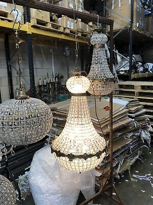Full Lit - French Button Empire Chandelier