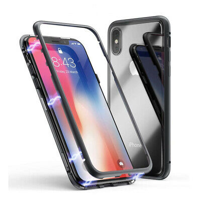 New Luxury Magnetic Adsorption Slim Shockproof Black Case Cover Iphone Xs Max