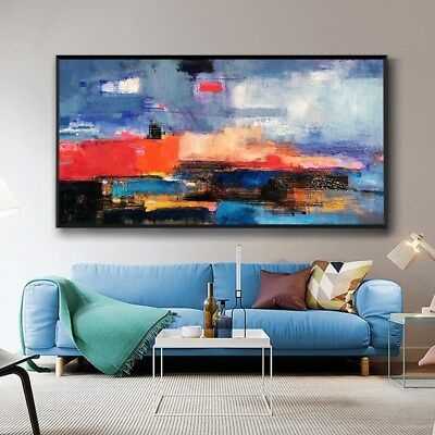 YA889 Modern Home decor art Concise Abstract oil painting Hand-painted Color art
