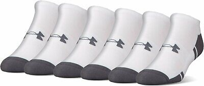 1f6a537c MEN UA UNDER Armour Resistor 3.0 No Show Socks 6 PACK = 6 Pair LARGE ...