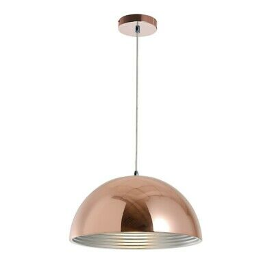 "Paris Prix - Lampe Suspension Design ""mads"" 40cm Cuivre"