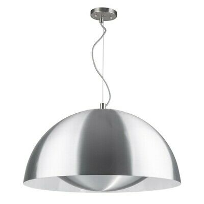 "Paris Prix - Lampe Suspension Design ""ray"" 25cm Aluminium"