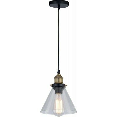 "Paris Prix - Lampe Suspension Industriel ""conrad"" 18cm Transparent"