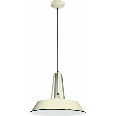 "Paris Prix - Lampe Suspension Design ""alvar"" 46cm Ivoire"