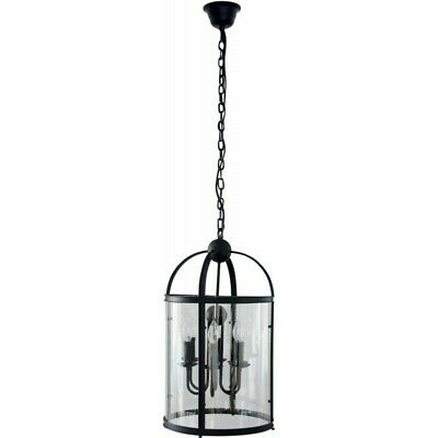 "Paris Prix - Lampe Suspension Baroque ""borello"" 36cm Noir"