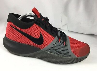 2bf37dcf3e2 Nike Zoom Assersion Men s Basketball Shoes 917505-600 Red Black Grey Size 8