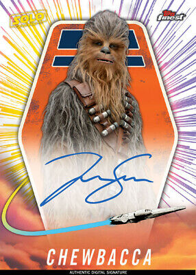 Topps Star Wars Card Trader FINEST 2019 SOLO STORY Chewbacca SIGNATURE