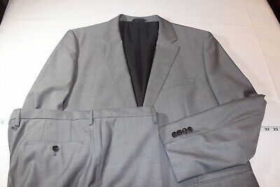 1326ffd2f HUGO BOSS Suit The James4/Sharp6 Slim Fit Gray 46L NWOT Guabello Wool Super  120