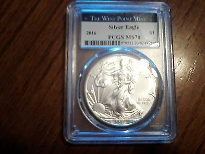 2016 American Silver Eagle PCGS MS70 - West Point Label