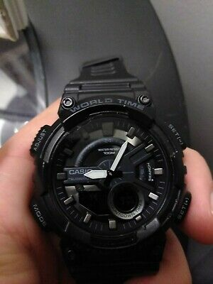 Casio Sports Men's Black Wristwatch with 46mm Case - AEQ110W-1BV