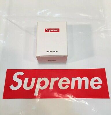 2019 S/S Supreme Shower Cap Gift Box Logo All Over Print Free Shipping