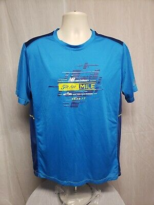 2017 NEW BALANCE NYRR 5th Ave Mile Run for Life Mens Large Blue Jersey