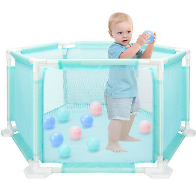 Baby Kids Children Oxford Cloth Playpen Play Pen Room With 10* Ocean Ball
