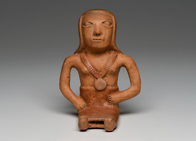 Narino Seated Female Figure Ca. 850-1500 A.D. Pre Columbian Art