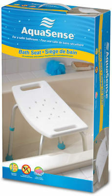 AquaSense Adjustable Bath and Shower Chair, White 770-500 NEW! A03