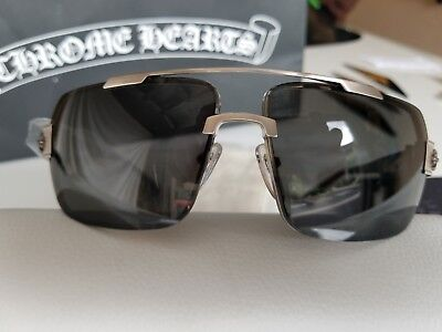 9941c8f977b6 New Chrome Hearts Gummer Sunglasses 😎 Black shiny 925 Silver Zeiis Cr 39  Lenses