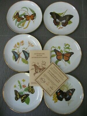 6 set BUTTERFLIES of the AUSTRALIAN GARDEN Westminster COLLECTOR PLATES Boxes