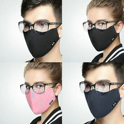 Reusable Fog-free Glasses Face Mask Washable Cotton Anti-Dust Mouth Respirator