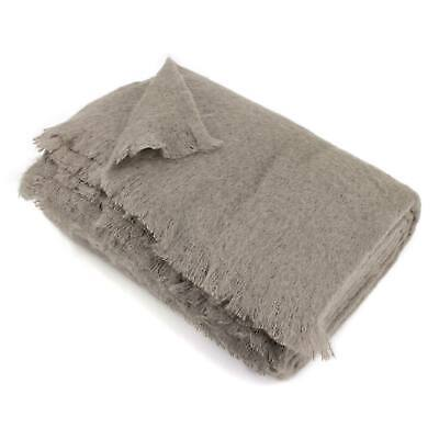 Couverture 230x260 Laine Mohair 320g/m² THESEE Marron Taupe