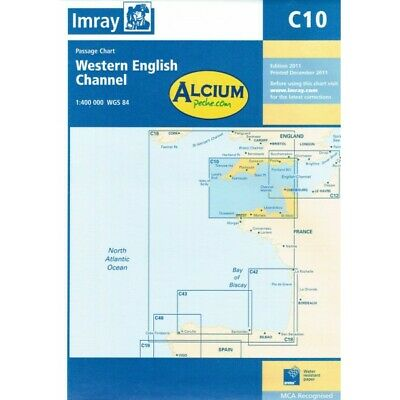 CARTE MARINE IMRAY C10 WESTERN ENGLISH CHANNEL alciumpeche