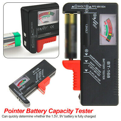 Universal Battery Volt Tester Tool AA AAA C D 9V Button Mini Cell Tester Checker