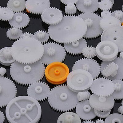 DZ1247 Plastic Shaft Single Double Reduction Crown Worm Gears x64 For Robot ☆