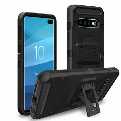Protective Hard Back Case Shockproof Kickstand Cover For Samsung Galaxy S10 Plus
