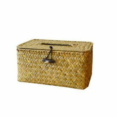 1X(Bathroom Accessory Tissue Box, Algae Rattan Manual Woven Toilet Living RR3J2)