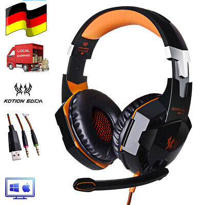 3.5mm Gaming Headset MIC LED G2000 Headphone for PC Laptop PS4 Xbox One 360 O7C8