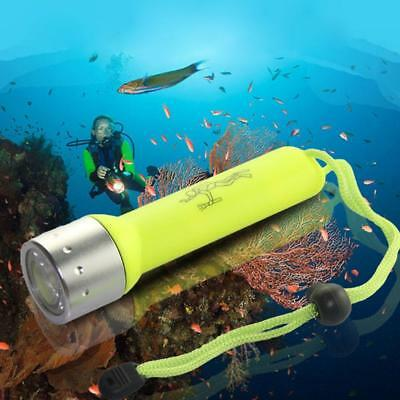 Outdoor Underwater LED Scuba Diving Flashlight Torch Light Waterproof-*`
