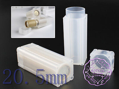 20.5mm Coins Storage Tubes Square Portable Safe X10