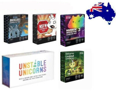 Core Black Box 4PCS Packs Unstable Unicorns Board Game Card Game for Ages 14+