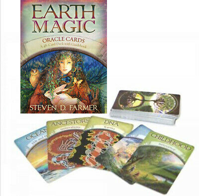 Earth Magic Oracle Cards: A 48-Card Deck English Version Party Game Card