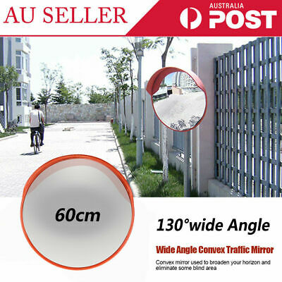 60cm Traffic Safety In/Outdoor Mirror Wide Angle Convex Security Wall Pole Dome