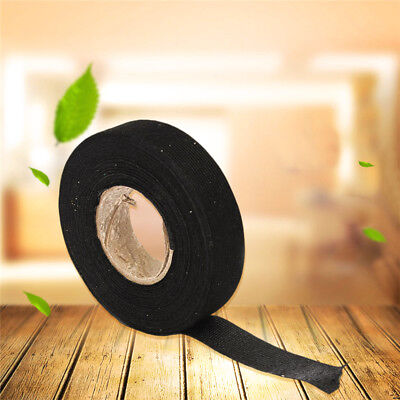 19mmx 15M Adhesive Cloth Fabric Tape Cable Looms Wiring Harness For Auto-Ca Q8P3