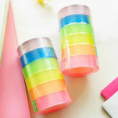 6 pcs/pack Strong Parcel Packing Tape Assorted Color Packaging Clear-12mmx12m
