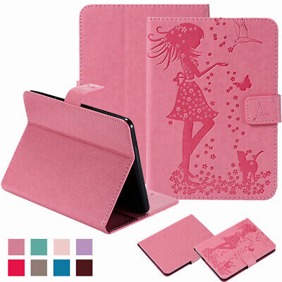 "For 6"" Amazon Kindle Paperwhite 1,2,3,4 Leather Card Slot Wallet Flip Case Cover"