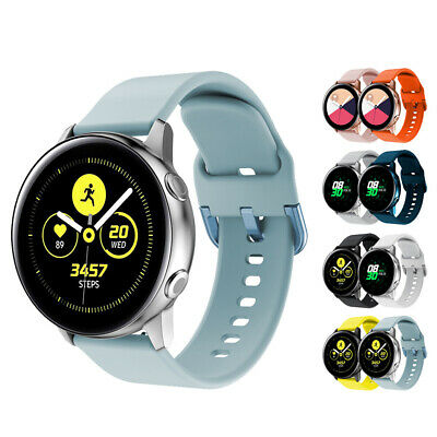 For Samsung Galaxy Watch Active Silicone Watch Bands Adjustable Straps Wristband