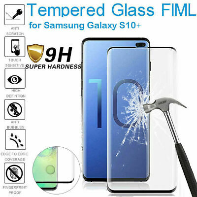 For Samsung Galaxy S10 Plus 6D Full Cover Tempered Glass Screen Protector UK New
