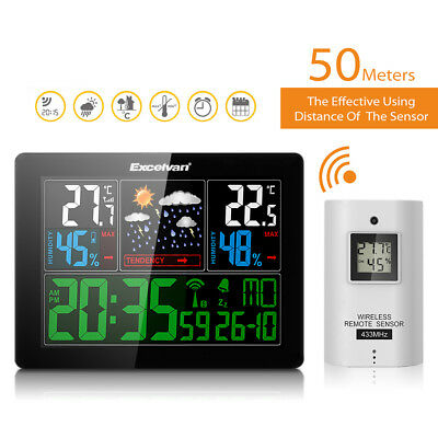 Hot EXCELVAN COLOR Wireless Weather Station Forecast Temperature Humidity New