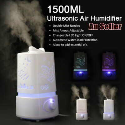 1.5L 7 Color LED Air Humidifier Ultrasonic Steam Aroma Vaporise Mist Diffuser AU