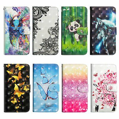 3D Printed Wallet Magnetic Flip Leather Case For ASUS Alcatel OnePlus Google