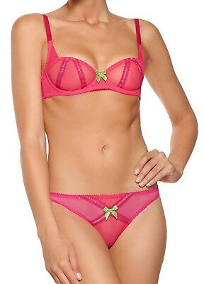 """L`Agent by Agent Provocateur Ceria Brief Set/""""Dolce Vita/"""" Black Embroidery/&Tulle"""