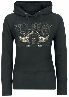 Volbeat Skullwing Bettw/äsche schwarz//wei/ß