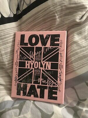 Hyolyn Autographed Signed Love Hate Album
