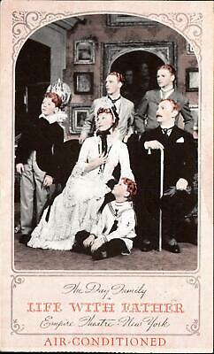 Life with Father play Empire Theatre New York City NY~ redhead actors ~sent 1941