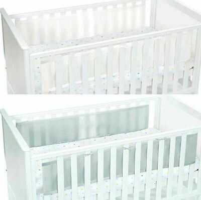 Breathable Baby TWO SIDED MESH LINER Infant Cot/Cotbed Bumpers Nursery BNIP