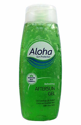 ** 2 X Aloha Refreshing Aftersun Gel With Aloe Vera 250Ml New Moisture Rich