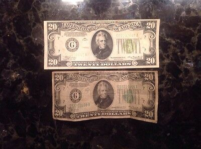 1934 A $20 Federal Reserve Note - Chicago + 1934 $20 FRN - Chicago