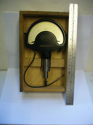 'CARL MAHR' MILLIMESS COMPARATOR GAUGE 8 RUBIS 0.001mm + CASE   (3907)